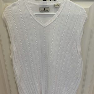 Southern pines men's white sweater vest